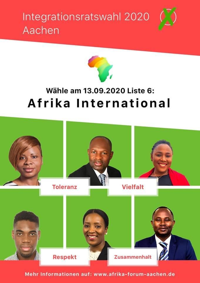 Integrationsratswahl 2020 Aachen - Waehle Liste 6 Afrika International-Front